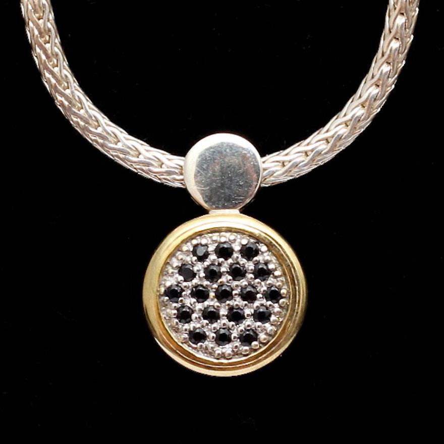 bdf35e58e0993 John Hardy Sterling Silver Round Dot Drop Pendant with Necklace   EBTH