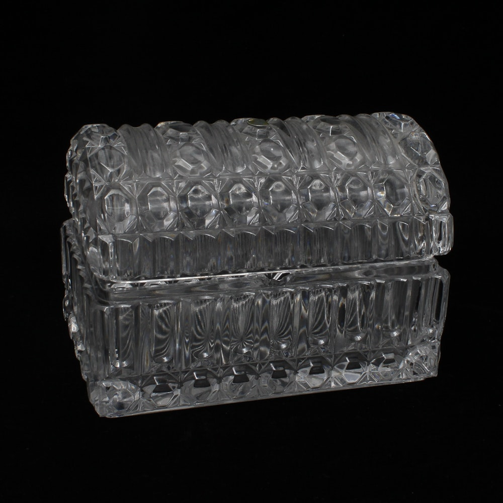 24% Lead Glass Trinket Box