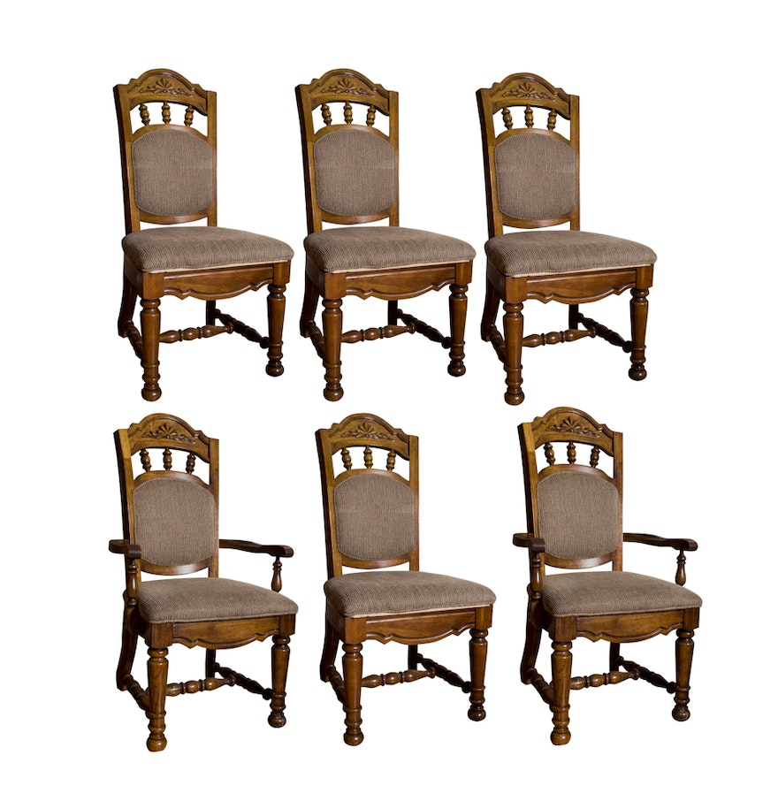 Singer furniture dining room chair set of 6 ebth for Z dining room chairs