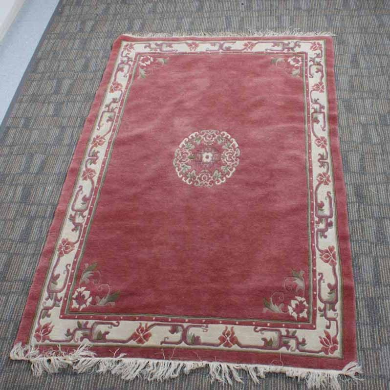 Asian-Inspired Floral Area Rug