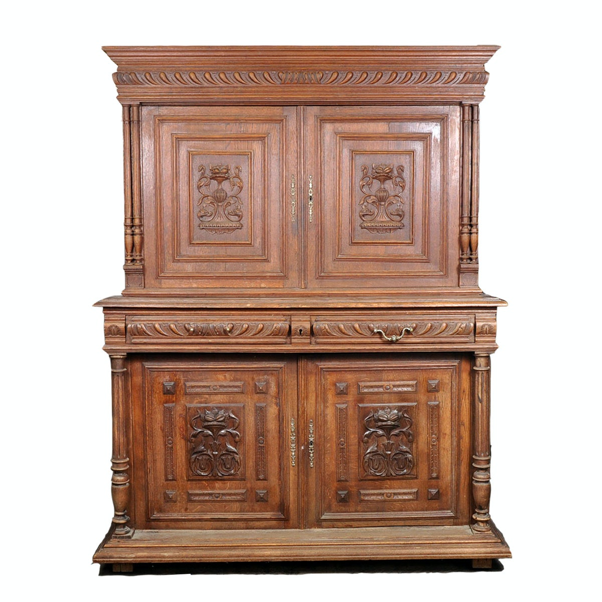 Early 20th Century Carved Oak Buffet