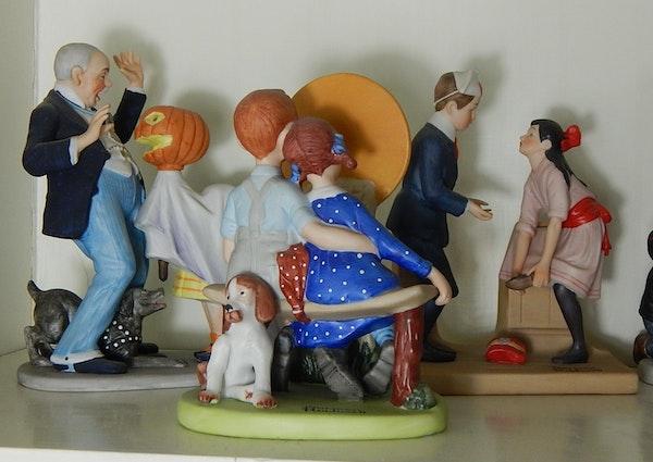Twelve Norman Rockwell Porcelain Figurines Ebth