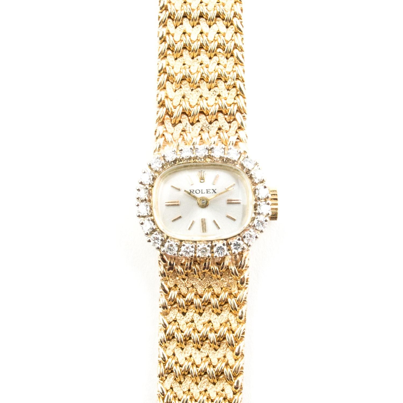 """Ladies 14K Yellow Gold Rolex """"Montres"""" Wristwatch"""