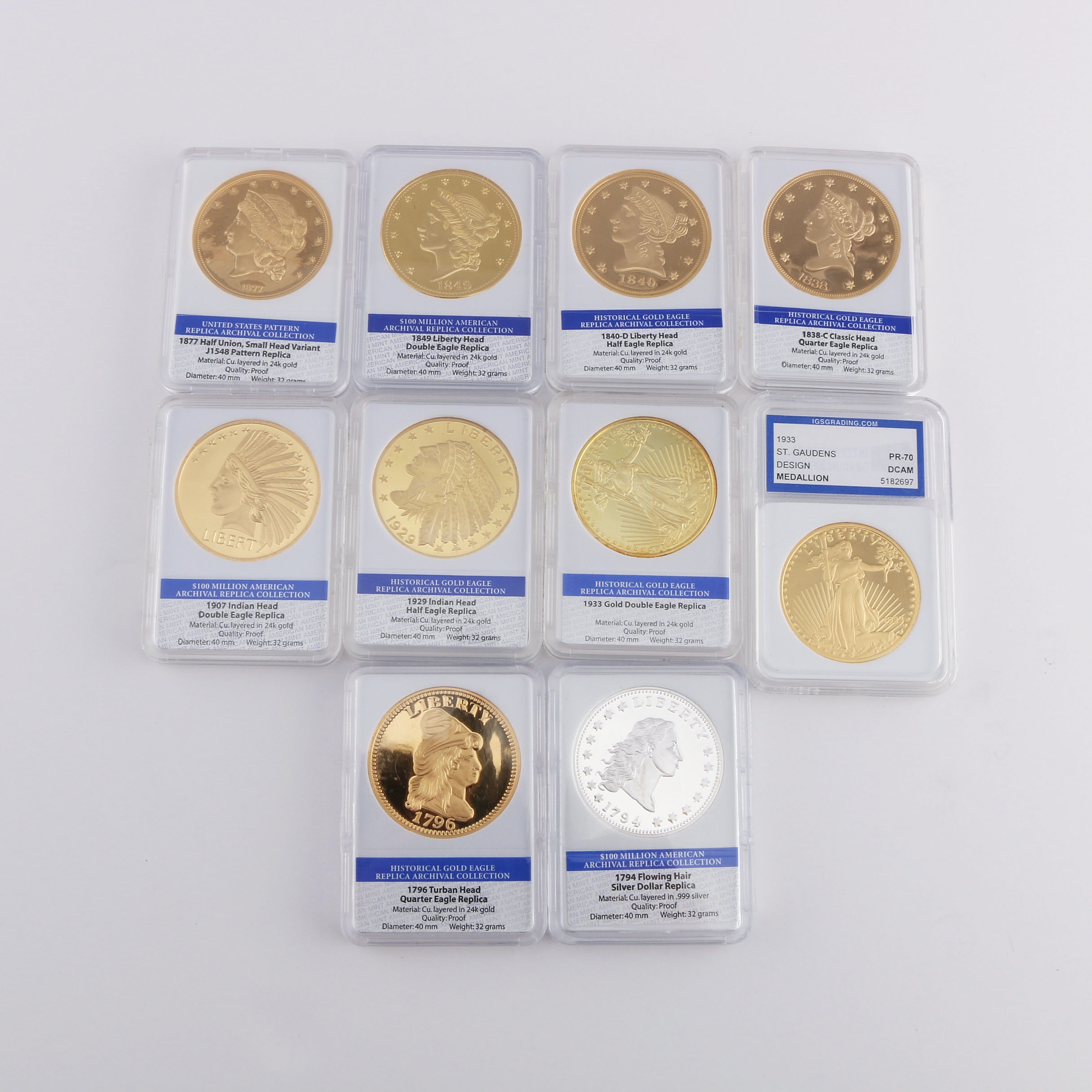 Collection of Replica Historic Coins