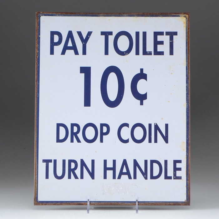 "Public Restroom ""Pay"" Sign"