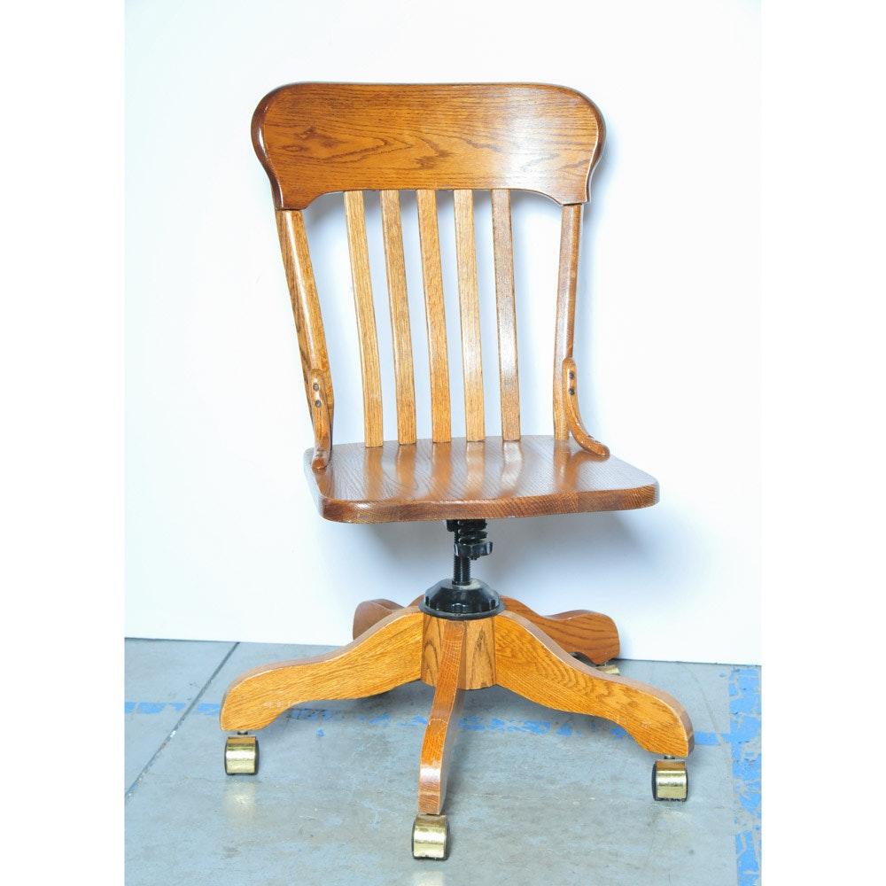 Winners Only Oak Desk Chair