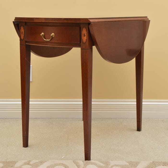Cherry Drop Leaf Side Table ...