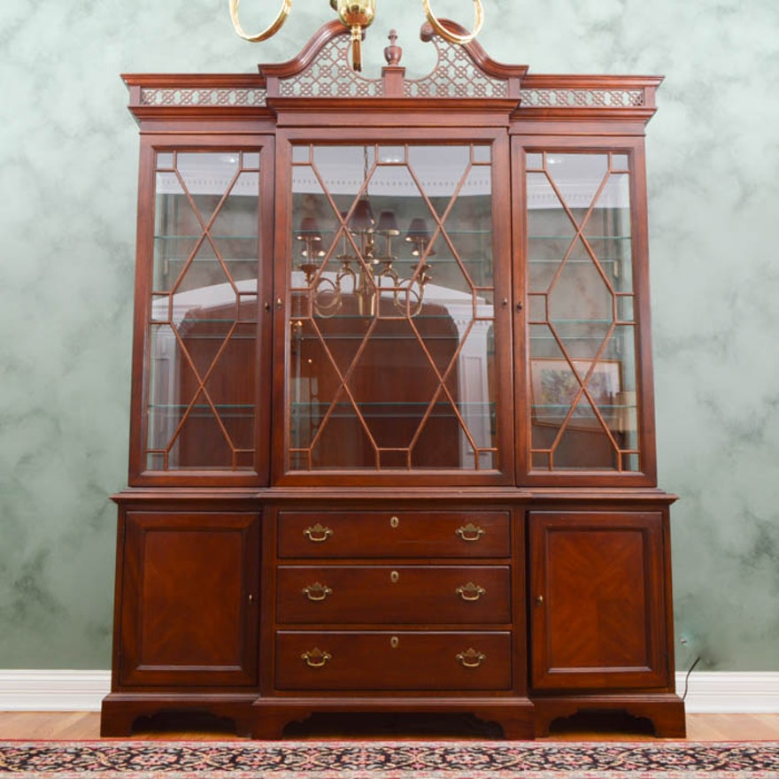 Palmer Home Collection Breakfront China Cabinet ... - Palmer Home Collection Breakfront China Cabinet : EBTH