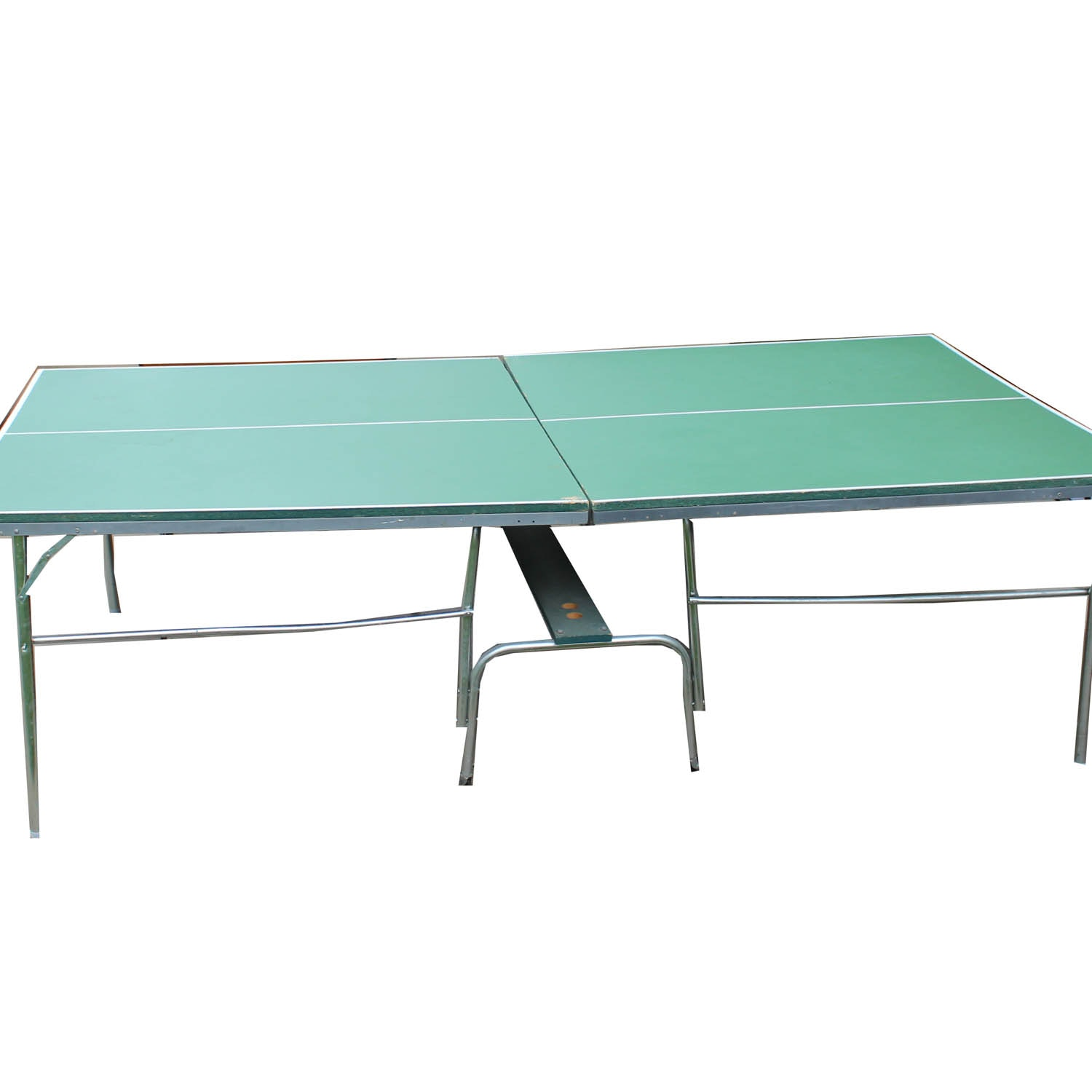 Folding Ping Pong Table on Rolling Base