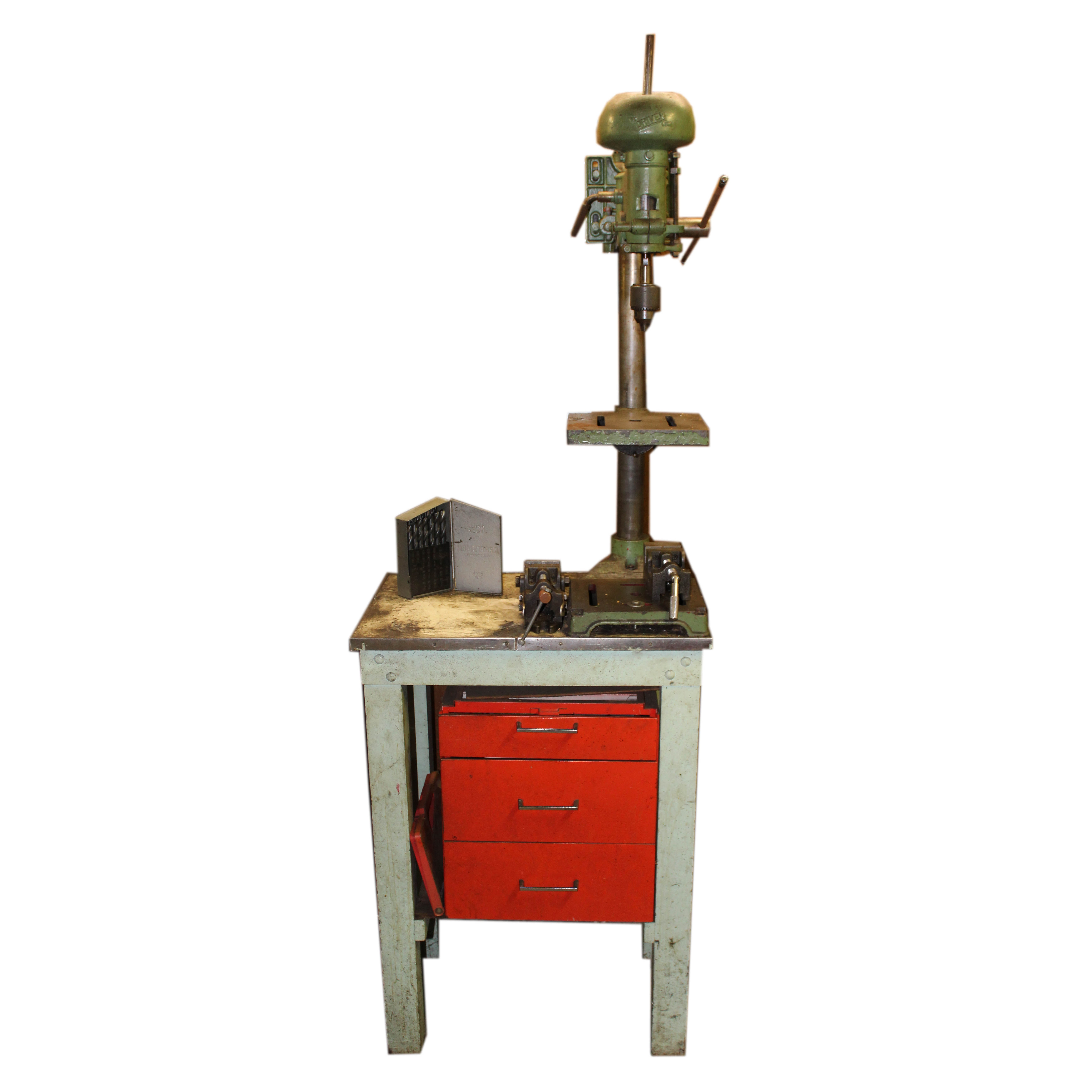 Vintage The Driver Line Drill with Stand and Drill Bits