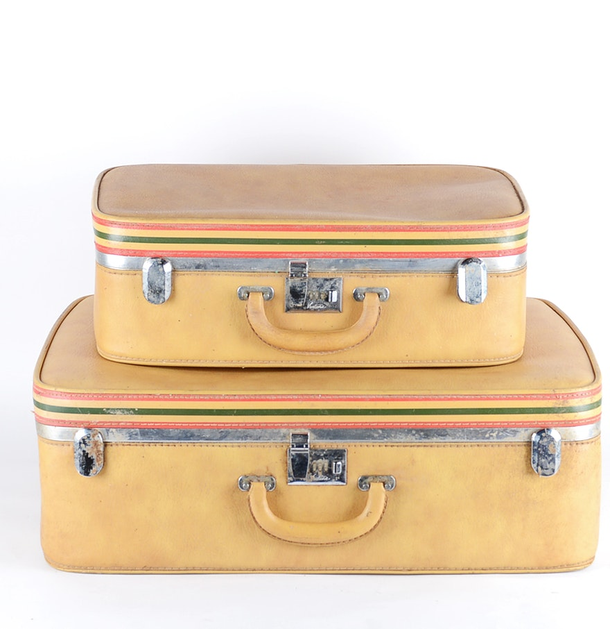 Vintage Ventura Suitcase Set Ebth