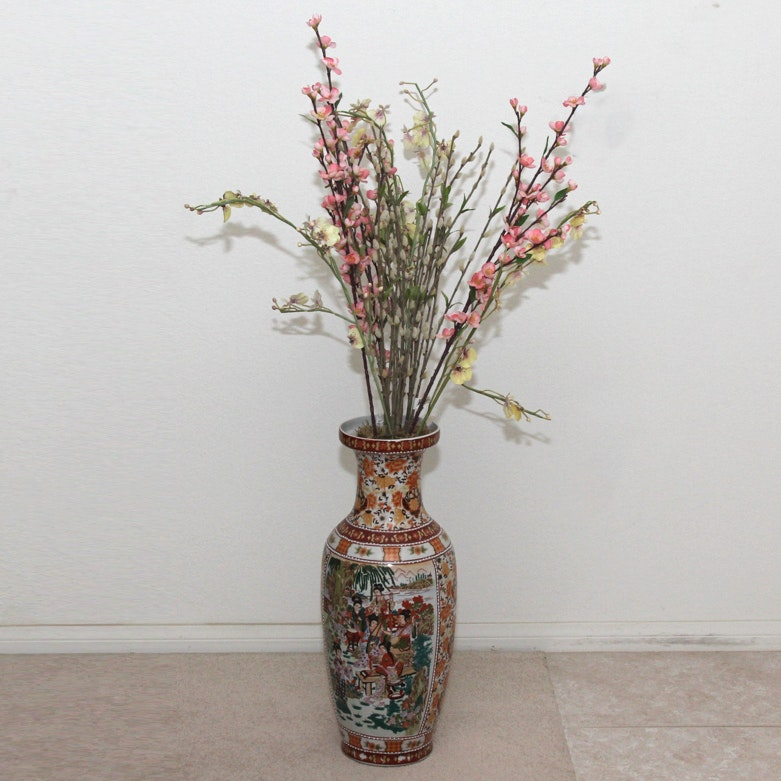 Chinese Decorative Vase and Flowers