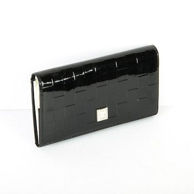 Courreges Black Patent Leather Wallet
