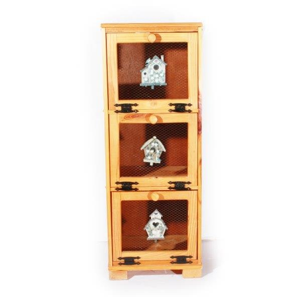 Three Tiered Wood Cabinet