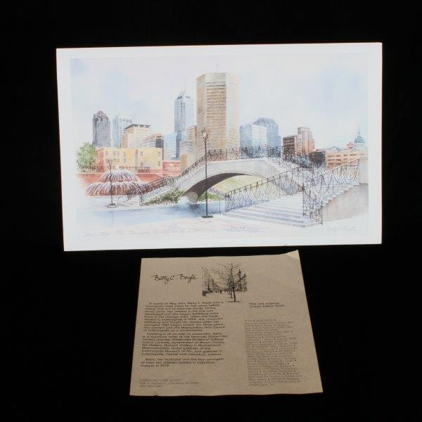 Betty C Boyle Signed Limited Edition Offset Lithograph