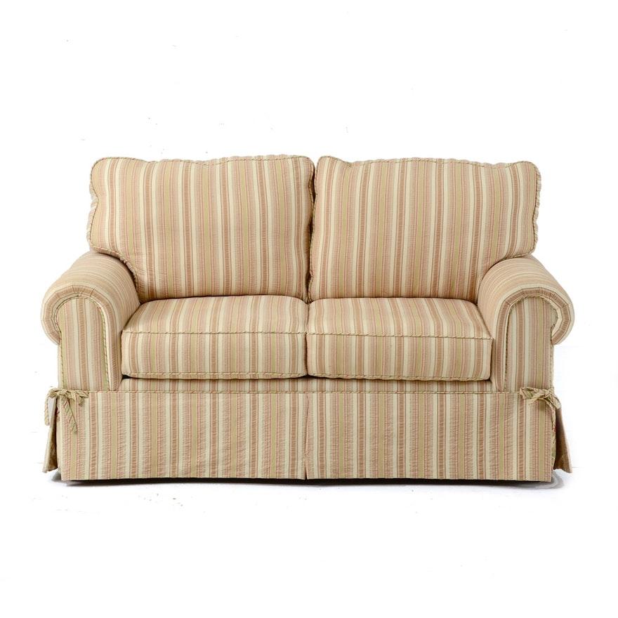 Pleasing American Signature Striped Loveseat Short Links Chair Design For Home Short Linksinfo
