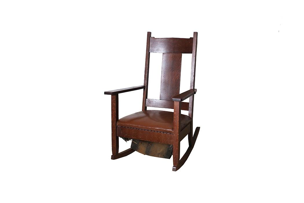 Antique Walnut Rocking Chair ...  sc 1 st  EBTH.com & Antique Walnut Rocking Chair : EBTH
