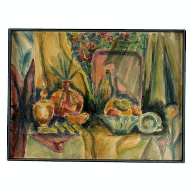 Dorothy Jackson Original Impressionist Still Life Watercolor