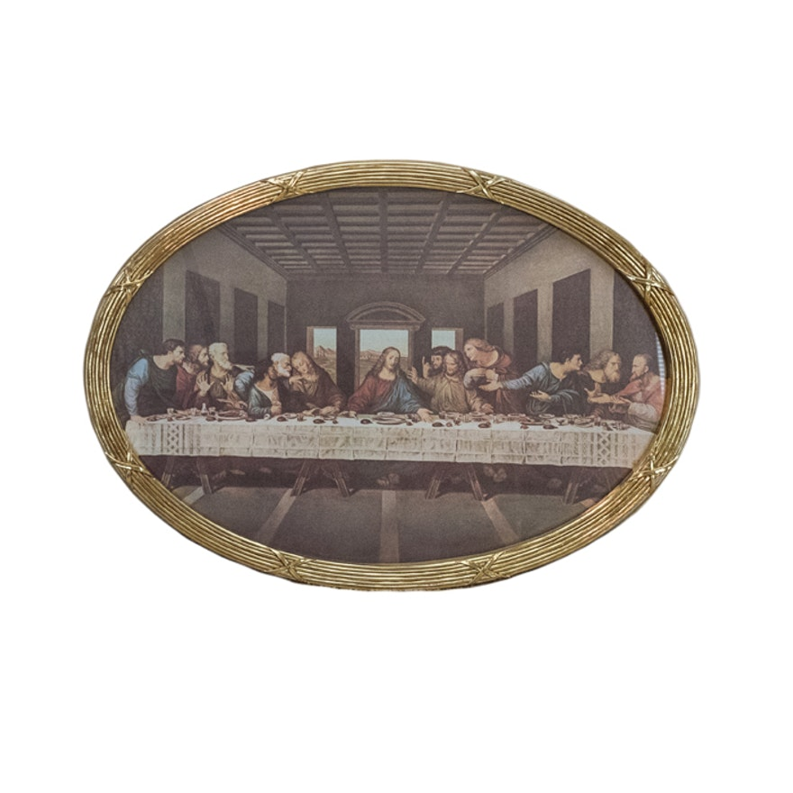 A Home Interiors Last Supper Print Ebth