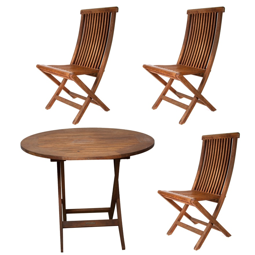 Smith Hawken Teak Patio Table And Chairs