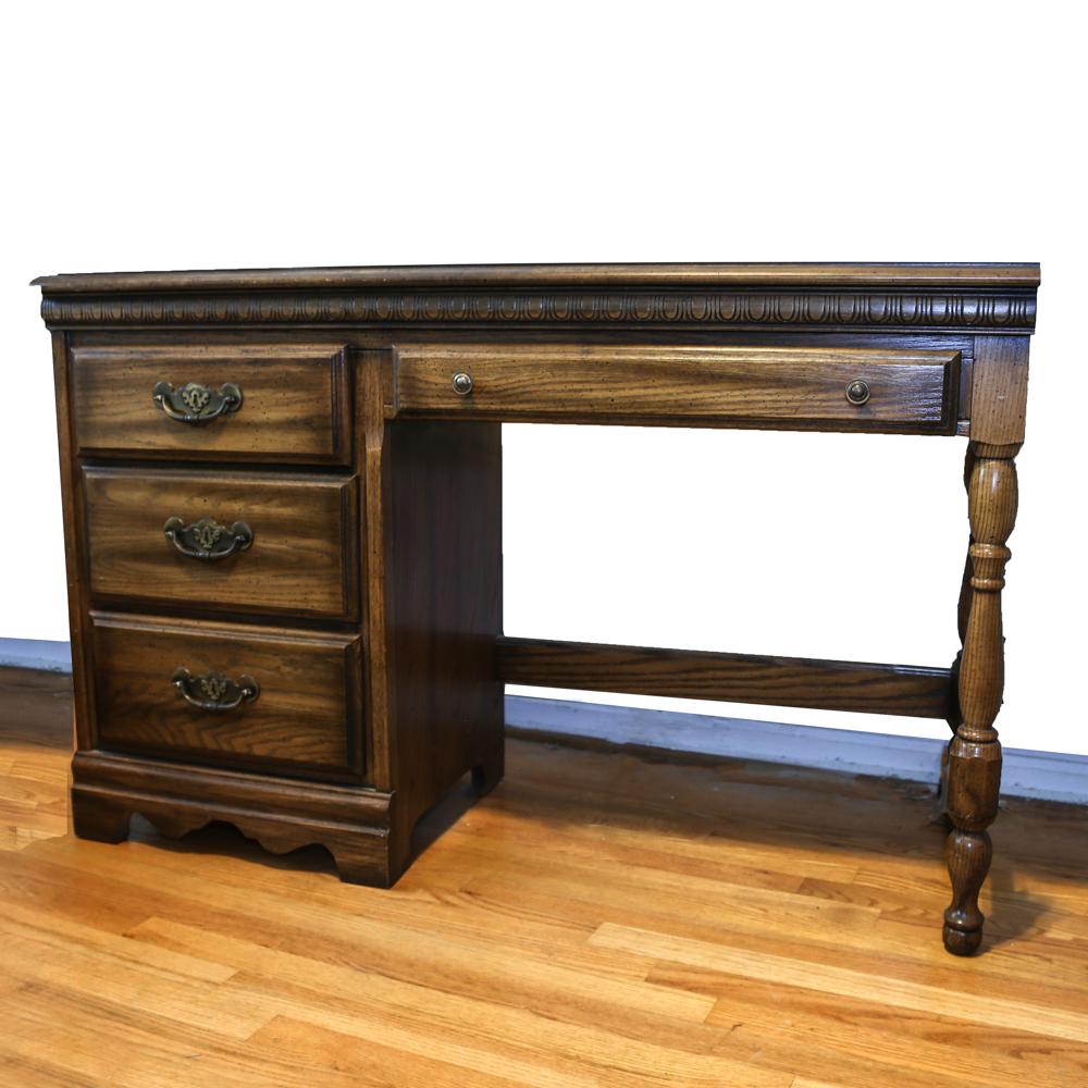 vintage american drew furniture Vintage American Drew Oak Desk : EBTH vintage american drew furniture