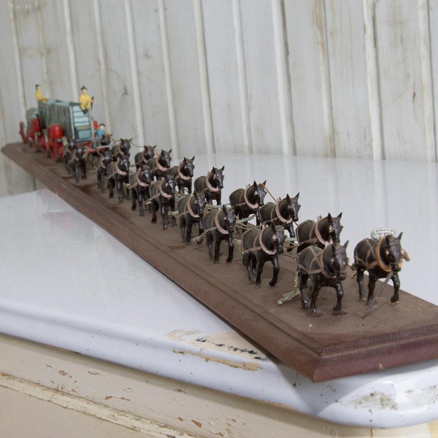 Vintage 20 team mule borax model on board ebth for 20 mule team borax swimming pools