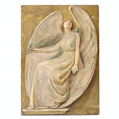 John Rettig Original 1912 High Relief Sculpture