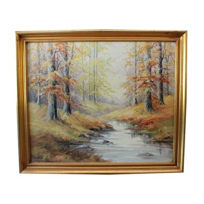 Signed, Original Oil on Canvas by Indiana Artist Effie Curlee