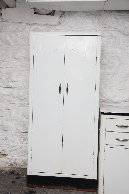 Vintage White Metal Cabinets Ebth