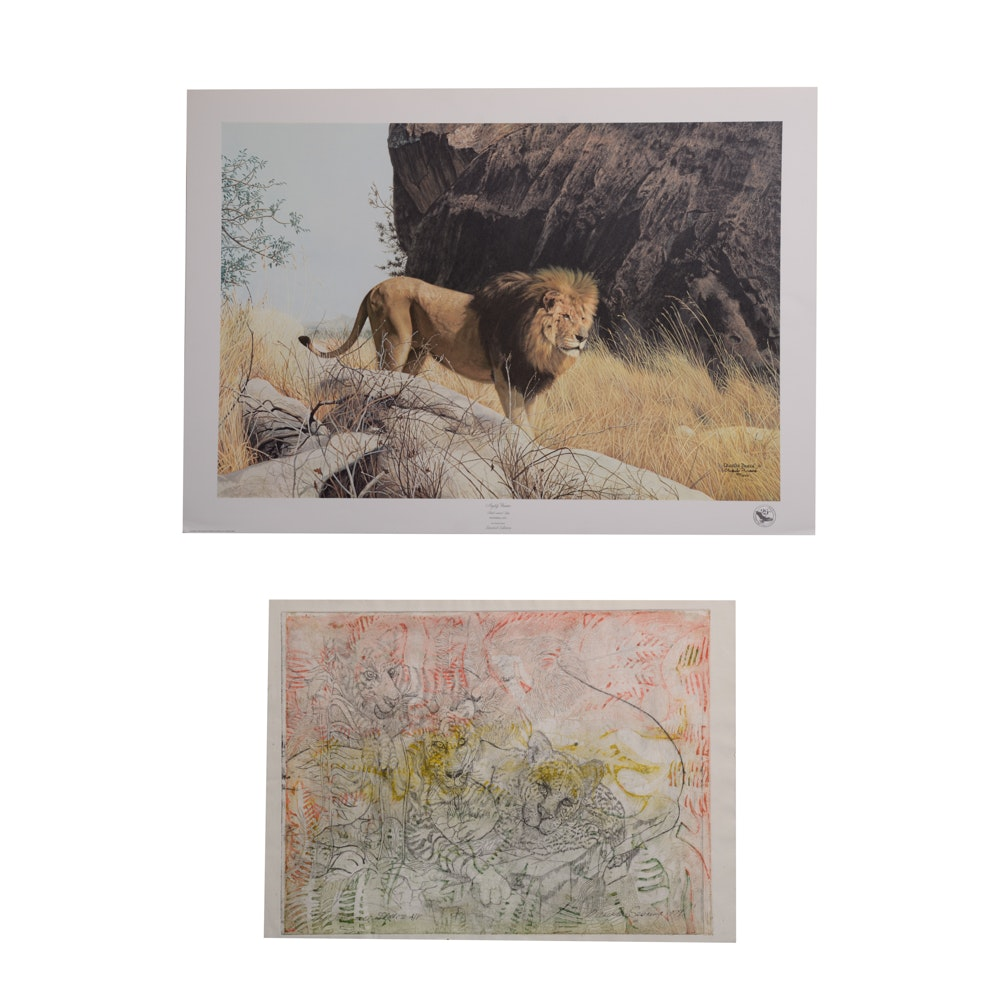 Two Signed Wildlife Prints