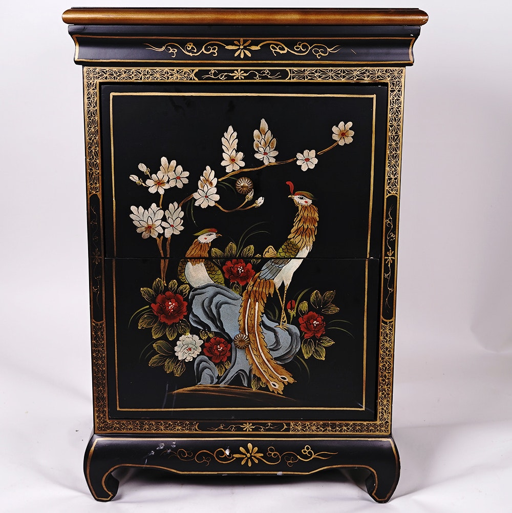 Hand Painted Chinoiserie Style Filing Cabinet ...