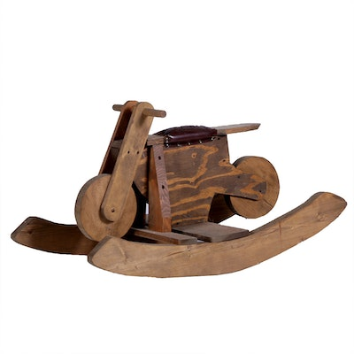 Antique toy auctions vintage game auctions in for Scooter rocking horse