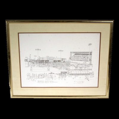 Signed, Limited Edition K.P. Singh Lithograph Print