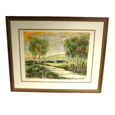 Signed, Limited Edition Color Lithograph by Listed Artist Bertoldo Taubert