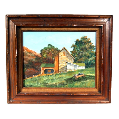 Signed, Original Oil on Board Painting by Indiana Artist W. Koch