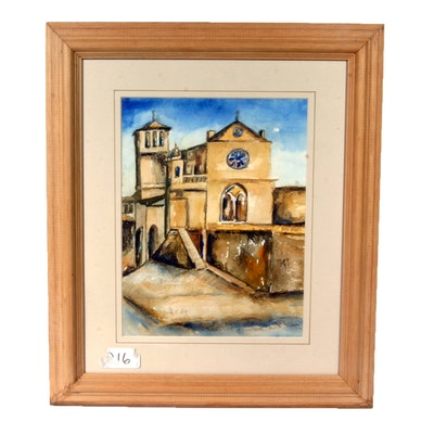 Signed, Original Watercolor by Indiana Artist Marie E. Lutz
