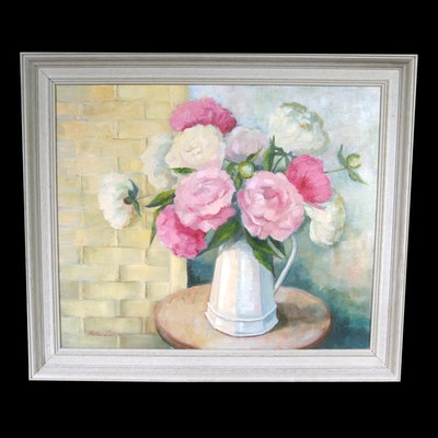 Signed, Original Oil on Canvas Still Life by Indiana Artist Betty Little