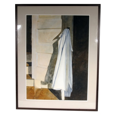 Signed, Original Watercolor by Listed Indiana Artist Henry Bell