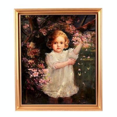 Dora Wheeler Keith Orignal Early 20th Century Oil Painting