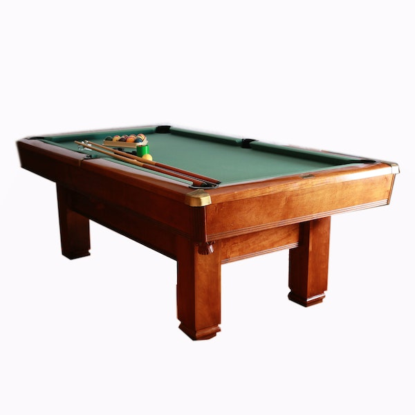 Hawthorne By Brunswick Pool Table With Accessories : EBTH