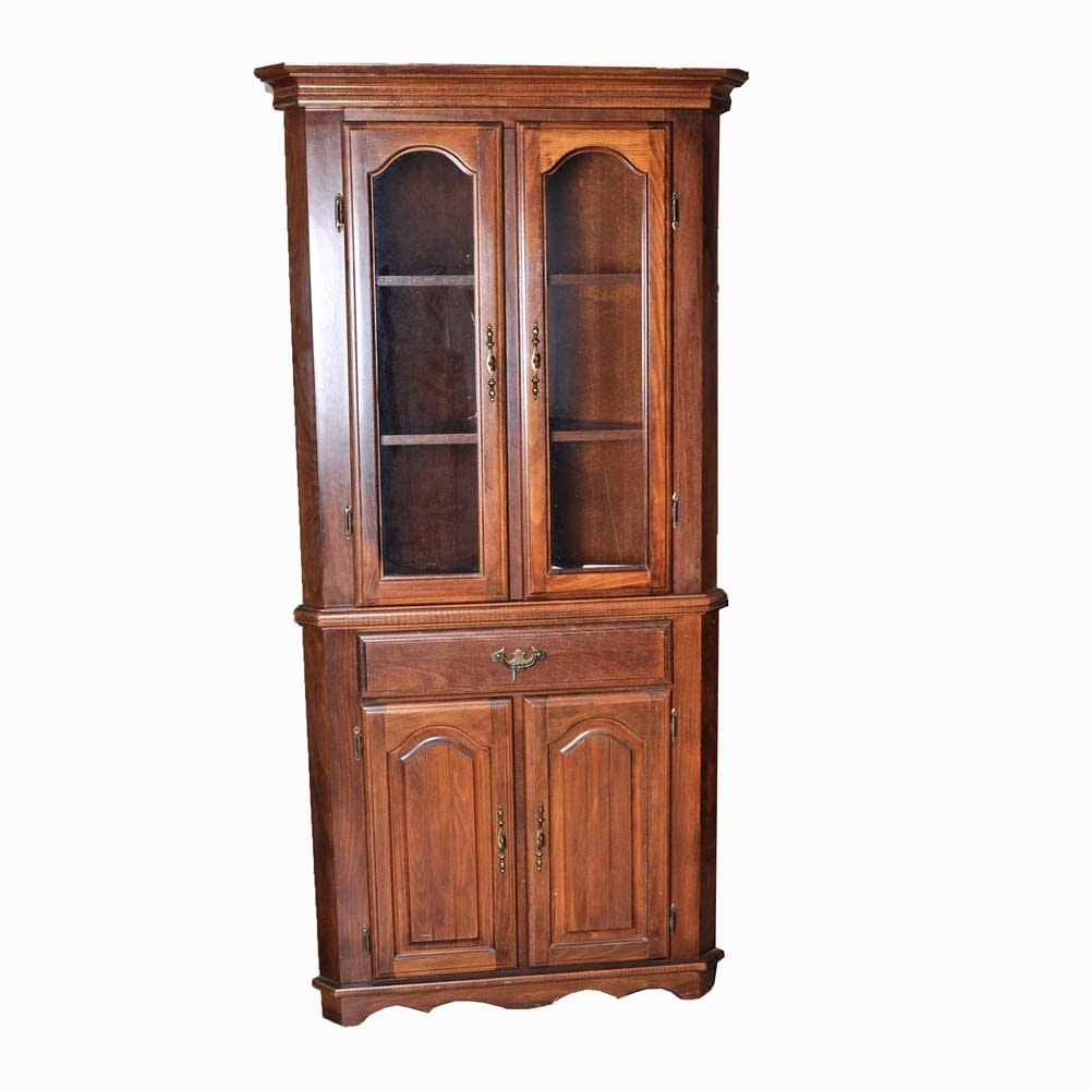 Early American Style Corner Cabinet