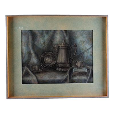 "Dorothy Jackson Original Watercolor ""Silver Reflections"""