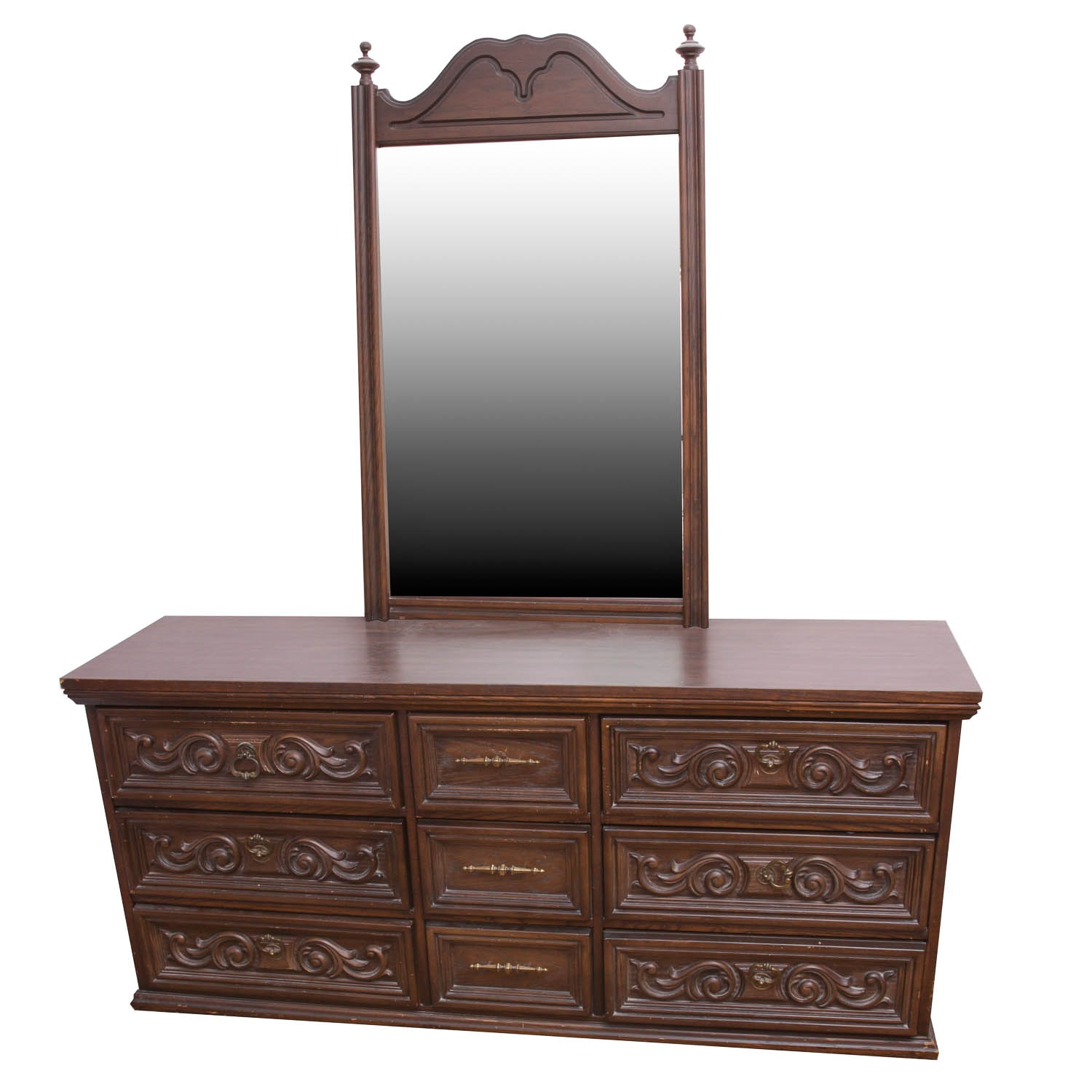 Delicieux Bassett Furniture Industries Dresser With Mirror ...