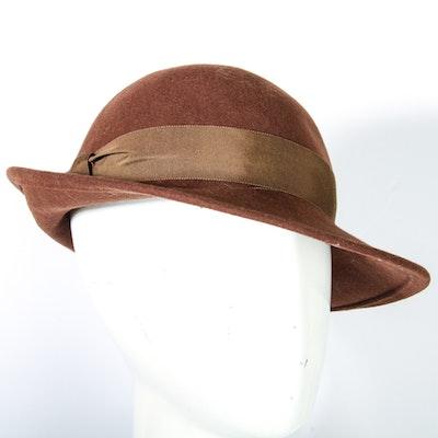 Vintage Halston Women's Wool Hat