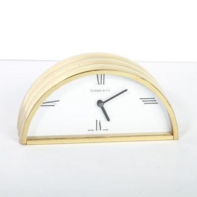 Tiffany & Co. Brass Mantle Clock