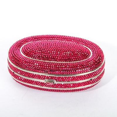 Judith Leiber Swarovski Crystal Encrusted Clutch Bag