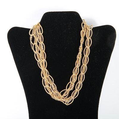 Vintage Hattie Carnegie Oversized Link & Chain Statement Necklace