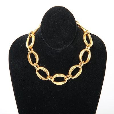Vintage Chanel Oversize Link Choker Necklace