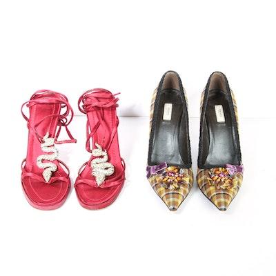 Women's Prada and Valentino Heels