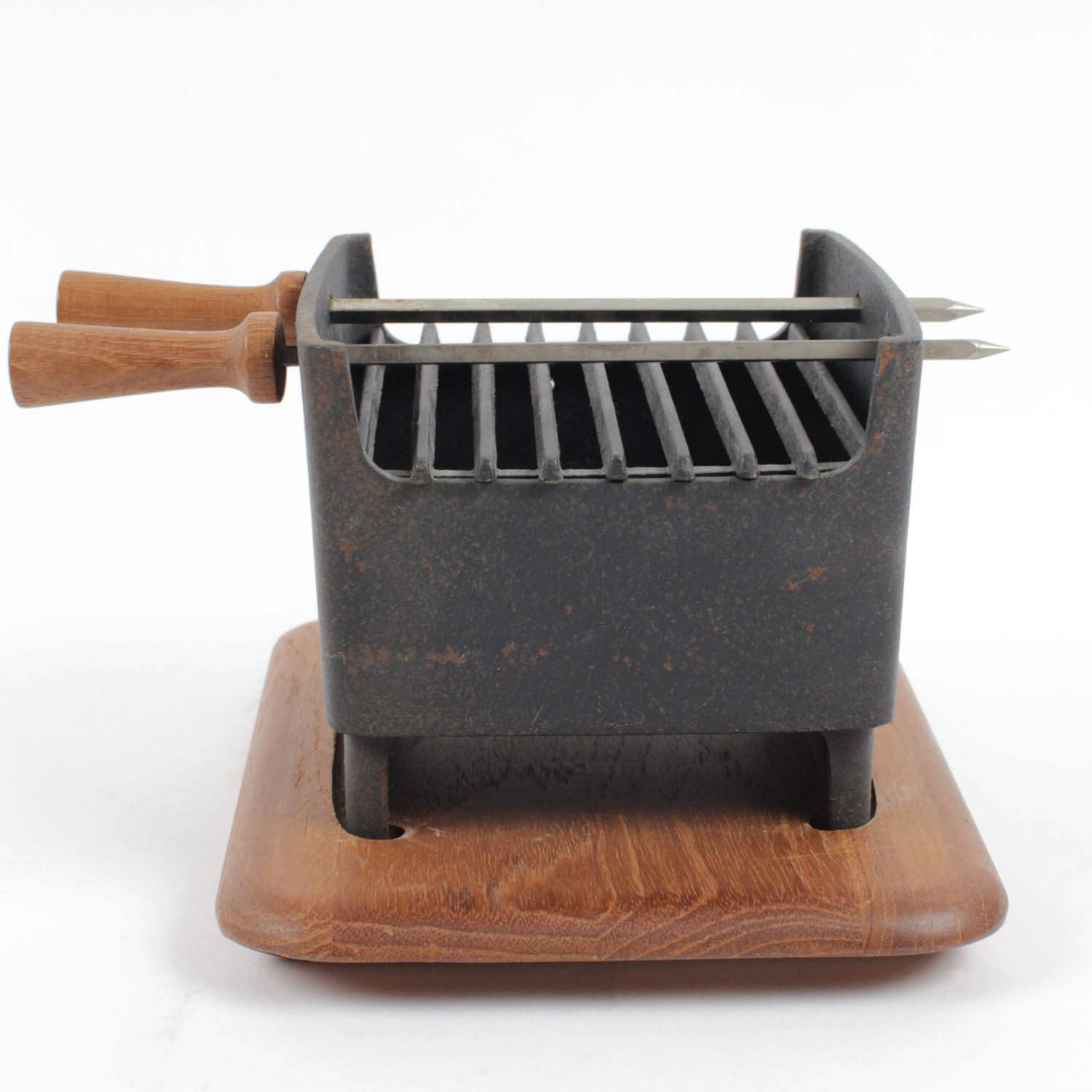 Mid Century Digsmed Denmark Teak And Cast Iron Tabletop Hibachi Grill ...